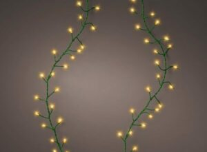 Micro LED 960 Compact Twinkle Christmas Lights Classic Warm Green Wire